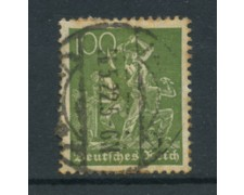 1921 - LOTTO/17751 - GERMANIA REICH - 100p.  VERDE OLIVA - USATO