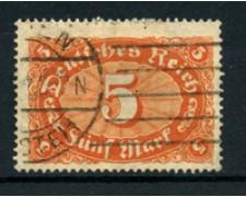 1921 - LOTTO/17754 - GERMANIA REICH - 5m. BRUNO ARANCIO - USATO