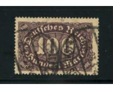 1921 - LOTTO/17769 - GERMANIA - 100 M. VIOLA SU CAMOSCIO - USATO