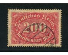 1921 - LOTTO/17770 - GERMANIA REICH - 200M. ROSSO  - USATO