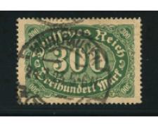 1921 - LOTTO/17771 - GERMANIA REICH - 300m. VERDE - USATO