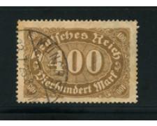 1921 - LOTTO/17772 - GERMANIA REICH - 400m. BRUNO - USATO