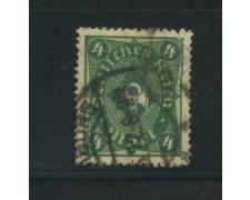 1922 - LOTTO/17802 - GERMANIA REICH - 4m. VERDE GIALLO - USATO