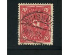 1922 - LOTTO/17804 - GERMANIA REICH - 10m. CARMINIO ROSA - USATO
