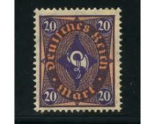 1922 - LOTTO/17805 - GERMANIA REICH - 20m. VIOLETTO ROSSO - NUOVO