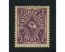 1922 - LOTTO/17809 - GERMANIA REICH - 2m. VIOLETTO - NUOVO