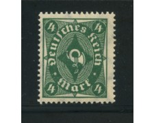 1922 - LOTTO/17812 - GERMANIA REICH - 4m. VERDE - NUOVO