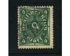 1922 - LOTTO/17813 - GERMANIA REICH - 4m. VERDE - USATO