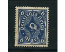 1922 - LOTTO/17816 - GERMANIA REICH - 6m. AZZURRO - NUOVO