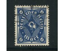1922 - LOTTO/17817 - GERMANIA REICH - 6m. AZZURRO -  USATO