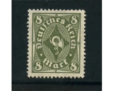 1922 - LOTTO/17818 - GERMANIA REICH - 8m. VERDE OLIVA - NUOVO