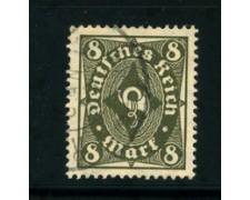 1922 - LOTTO/17819 - GERMANIA REICH - 8m. VERDE OLIVA - USATO