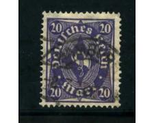 1922 - LOTTO/17820 - GERMANIA REICH - 20m. VIOLETTO - USATO