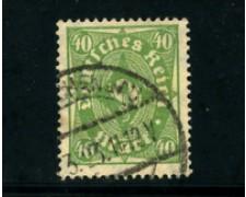 1922 - LOTTO/17822 - GERMANIA REICH - 40m. VERDE GIALLO - USATO