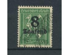 1923 - LOTTO/17684 - GERMANIA REICH - 8t. du 30p. VERDE - USATO