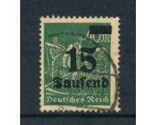 1923 - LOTTO/17865 - GERMANIA REICH - 15t. su 40m. VERDE - USATO