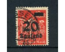 1923 - LOTTO/17866 - GERMANIA REICH - 20t. su 12m.VERMIGLIO - USATO