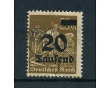 1923 - LOTTO/17867 - GERMANIA REICH - 20t. su 25m. BISTRO - USATO