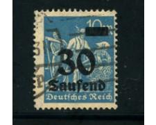 1923 - LOTTO/17869 - GERMANIA REICH - 30t.su 10m. AZZURRO - USATO