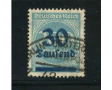 1923 - LOTTO/17870 - GERMANIA REICH - 30t. su 200m. AZZURRO - USATO