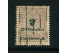 1923 - LOTTO/17908- GERMANIA REICH - 2Md.  GRIGIO BRUNO - USATO