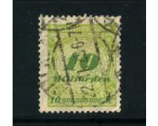 1923 - LOTTO/17910 - GERMANIA REICH - 10Md. VERDE GIALLO - USATO