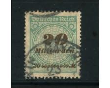 1923 - LOTTO/17911 - GERMANIA REICH - 20Md. VERDE E BRUNO - USATO