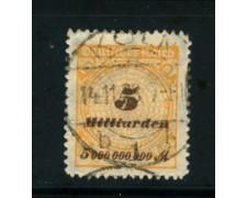1923 - LOTTO/17912 - GERMANIA REICH - 5Md. OCRA  - USATO