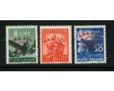 1948 - LOTTO/17956 - TRIESTE A - CONVEGNO FILATELICO 3v. - nuovi