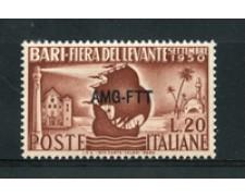 1950 - LOTTO/17963 - TRIESTE A - 20 Lire FIERA DEL LEVANTE - NUOVO