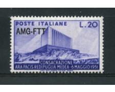 1951 - LOTTO/17967 - TRIESTE A - ARA PACIS - NUOVO