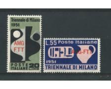 1951 - LOTTO/17973 - TRIESTE A - TRIENNALE DI MILANO 2v. - NUOVI