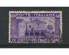 1926 - LOTTO/17990 - SOMALIA - 40c. SAN FRANCESCO - USATO