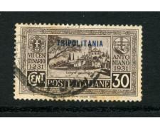 1931 - LOTTO/17991 - TRIPOLITANIA - 30c. S. ANTONIO - USATO