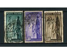 1949 - LOTTO/18602 - TRIESTE A -  E.R.P. -  3v.  USATI