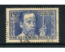 1936 - LOTTO/18610 - FRANCIA - 1,50+50c. PASTEUR - USATO