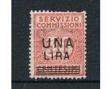 1925 - LOTTO/18613 - REGNO - 1 LIRA SU 30c. SERVIZIO COMMISSIONI  - LING.