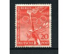 1952 - LOTTO/18618 - BERLINO - 20p. OLIMPIADI DI HELSINKI - NUOVO