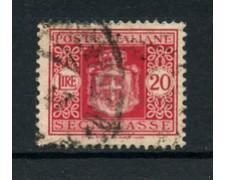 1945 - LOTTO/18639 - LUOGOTENEZA - 20 LIRE SEGNATASSE CON FILIGRANA - USATO