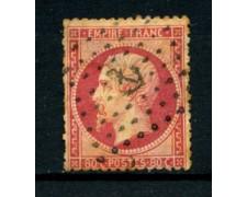 1862 - LOTTO/18649 - FRANCIA - 80 cent. ROSA NAPOLEONE III° - USATO