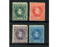 1901 - LOTTO/18673 - SPAGNA - EFFIGIE RE ALFONSO  4v. NUOVI SENZA GOMMA