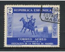 1936 - LOTTO/18676 - SPAGNA - 2p.  POSTA AEREA ASSOCIAZIONE  STAMPA - USATO