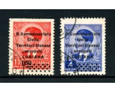 1941 - LOTTO/18691  - LUBIANA -  REGIO COMMISSARIATO - 2v- USATI