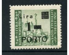 1946 - LOTTO/18694 - ISTRIA  LITORALE SLOVENO -  1 LIRA SU 1 LIRA - LING.