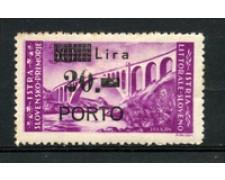 1946 - LOTTO/18698 - ISTRIA  LITORALE SLOVENO -  20  LIRE SU 30 LIRE - LING