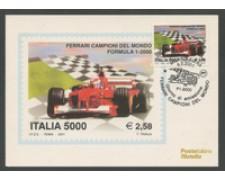 2001 - LOTTO/18719 - REPUBBLICA - FERRARI CAMPIONE DEL MONDO - CARTOLINA