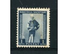 1939 - LOTTO/18721 - ALBANIA ITALIANA - 1q. COSTUMI - LING.