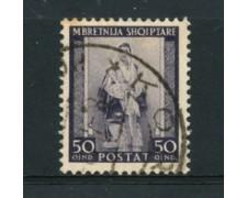 1939 - LOTTO/18723 - ALBANIA ITALIANA - 50q. COSTUMI - USATO