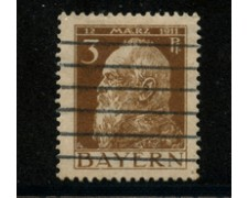 1911 - LOTTO/18735 - BAVIERA - 3p. BRUNO  II° TIPO - USATO
