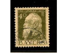 1911 - LOTTO/18737 - BAVIERA - 40p. OLIVA  II° TIPO - USATO
